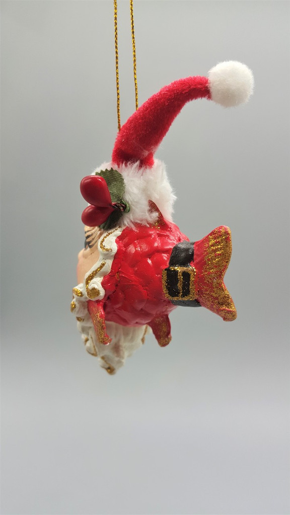 Mr Clause Kissing Fish Tree Decoration