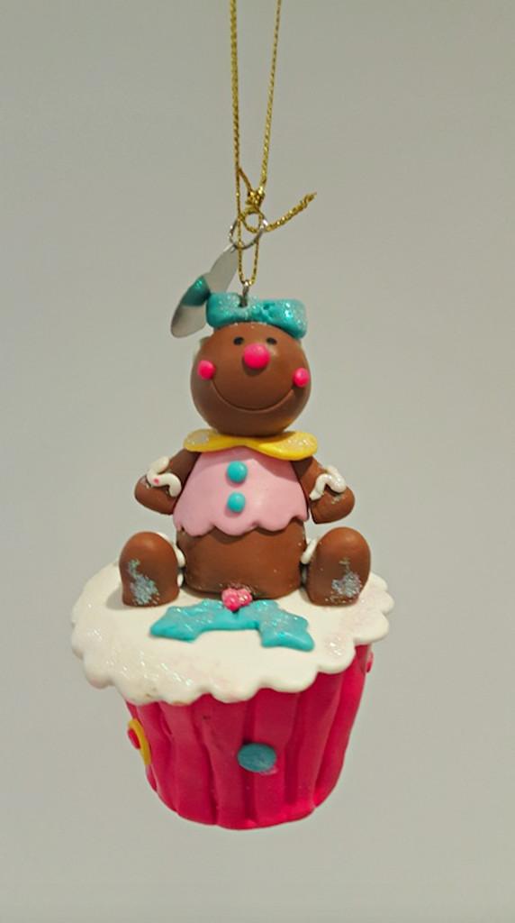 Cupcake Gingerbread Ornament