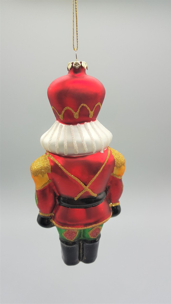 Katherine's Collection Glass Nutcracker Christmas Decoration