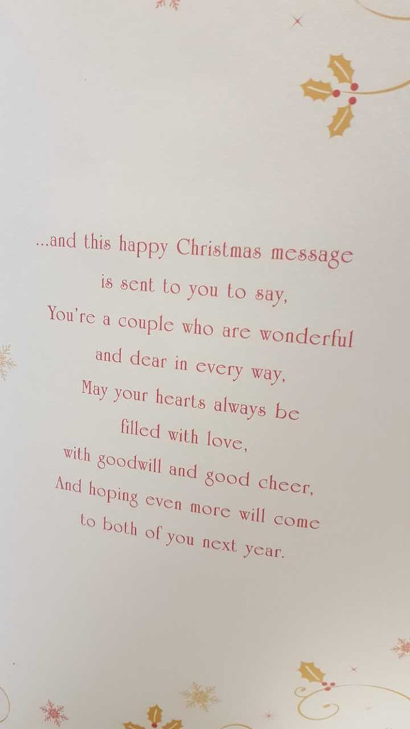 To Both Of You Luxury Christmas Card