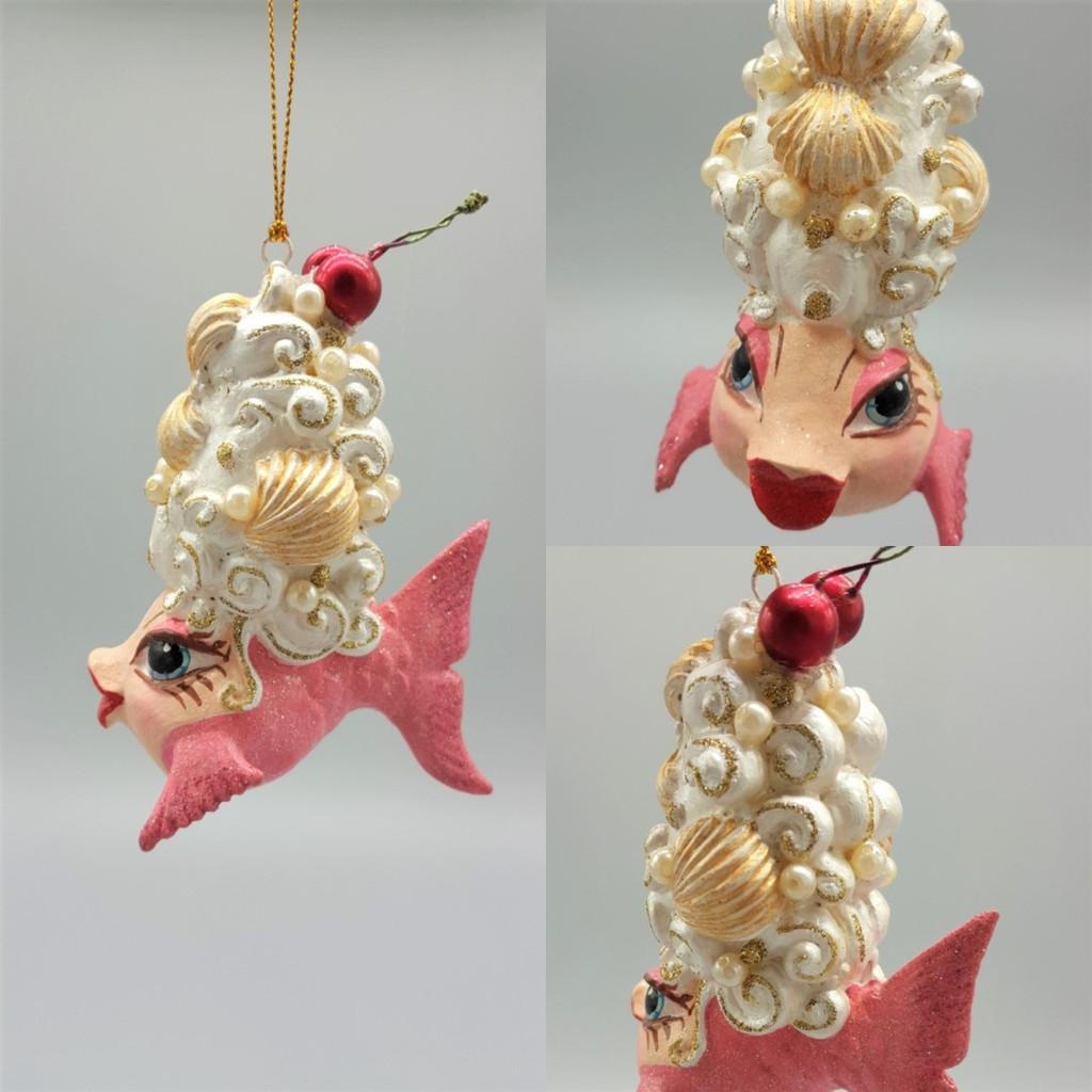 Cherry Shell Kissing Fish Is Fun Display This Christmas Season