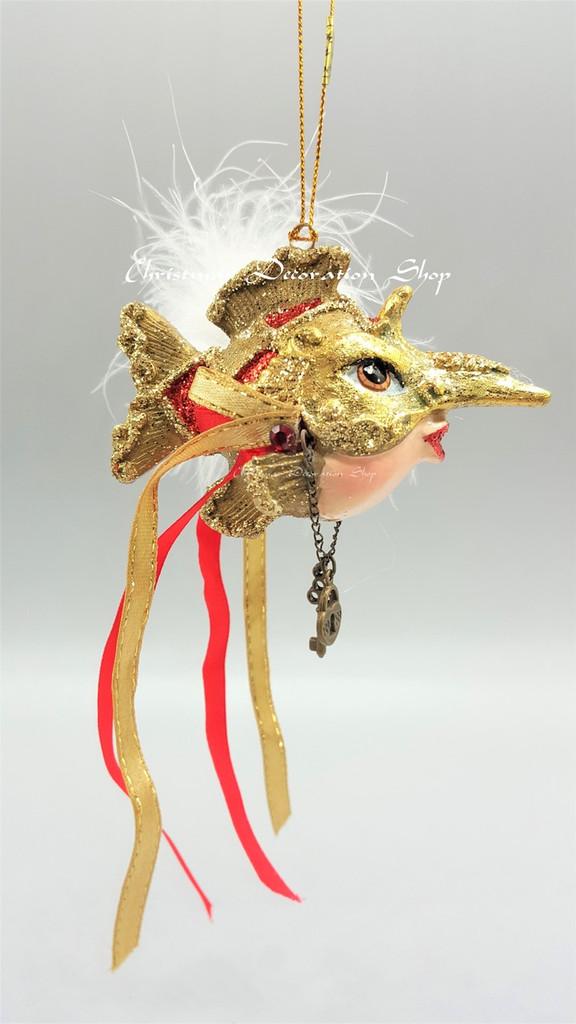 Mask Kissing Fish Tree Decoration