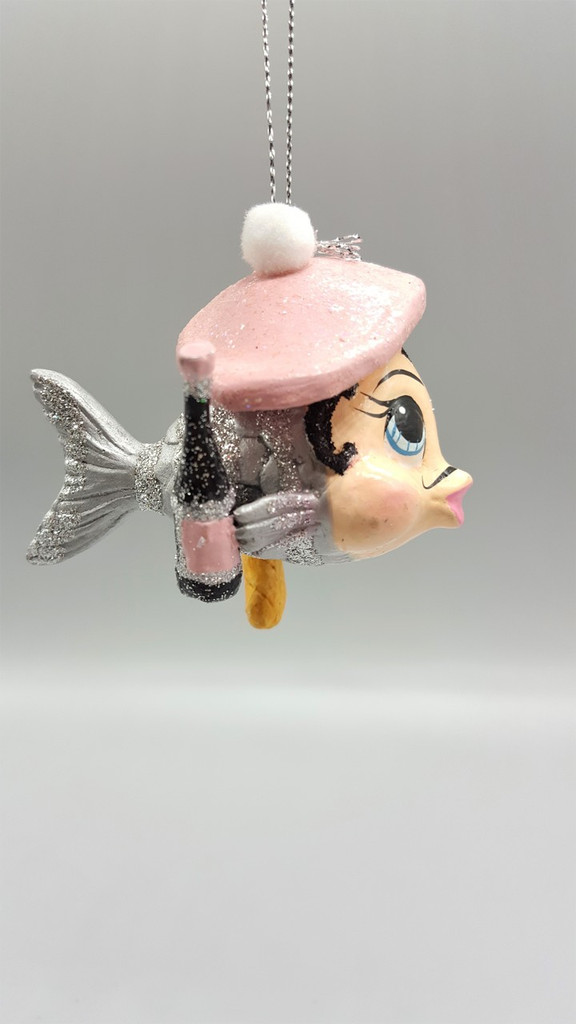 Monsieur Baguette Kissing Fish Tree Decoration