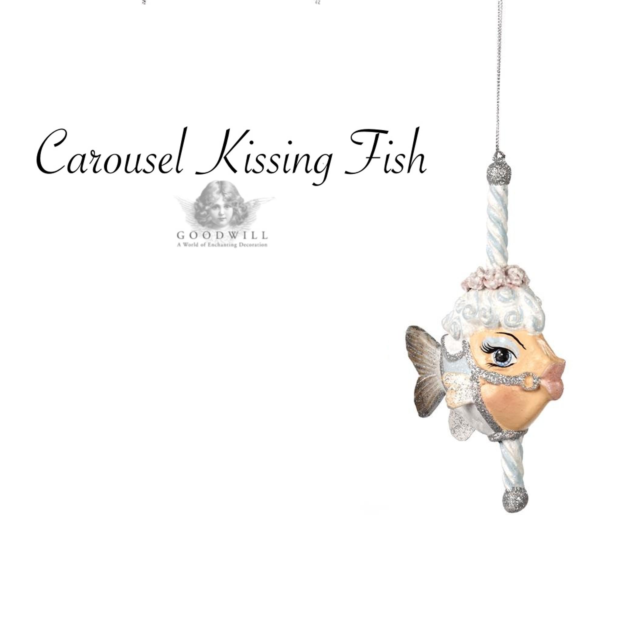 Kissing fish ornament - Carousel Kissing Fish