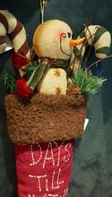 Snowman Advance  Calendar Christmas Stocking