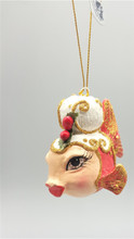 Mrs Clause Kissing Fish Ornament 2017