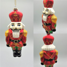 Katherine's Collection Handmade and hand painted Glass Nutcracker Christmas Tree Ornament
