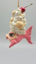Cherry Shell Hairdo Kissing Fish Tree Ornament