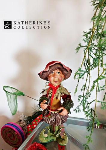 Katherine's Collection Mushroom Elf Doll Display