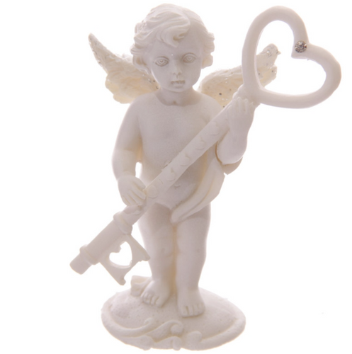 Cherub Magic Key Ornament
