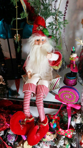 Sitting Elf Doll Display