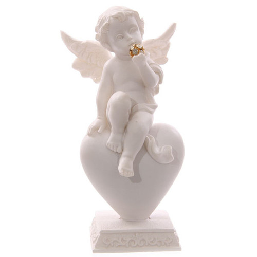 Cherub On Heart Ornament