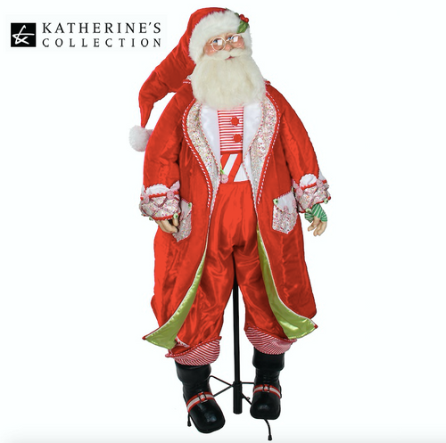 Katherine's Collection Life Size Cuckoo Santa Doll Display with Stand