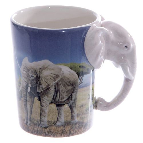 Elephant Shape Handle Mug