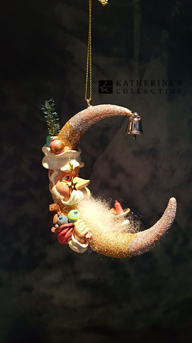 Katherine's Collection Santa Moon Tree Ornament