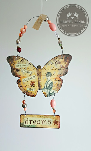 Shabby Chic Butterfly Display