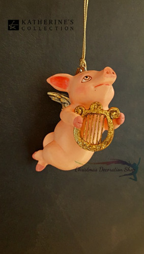 Katherine's Collection Harp Cupig Tree Ornament