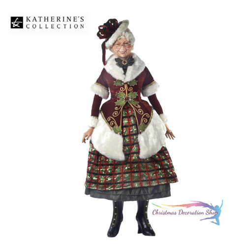 Mrs Clause Tartan Traditions Life Size Doll