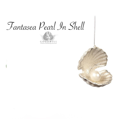 Pearl In Shell Christmas Tree Decoration