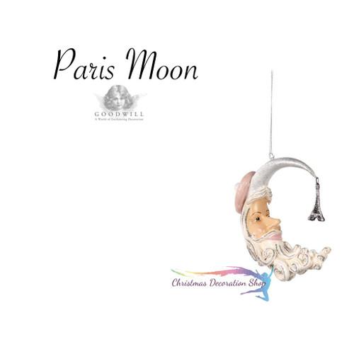 Christmas Paris Moon Tree Decoration