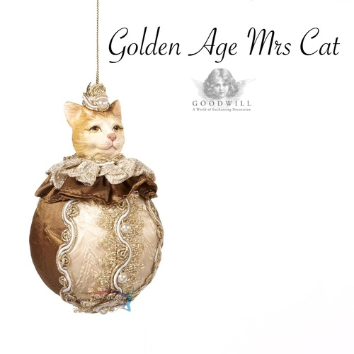 Mrs Cat Christmas Tree Ornament