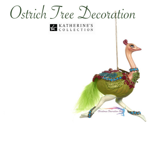 Katherine's Collection 2017 Ostrich Tree Decoration
