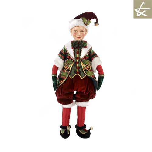 Christmas Tartan Tradition Large Elf Doll Display