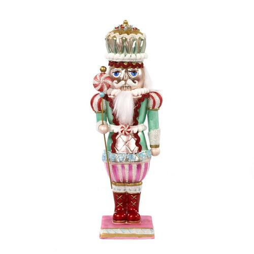 Handmade Glass Candy Nutcracker Ornament Display