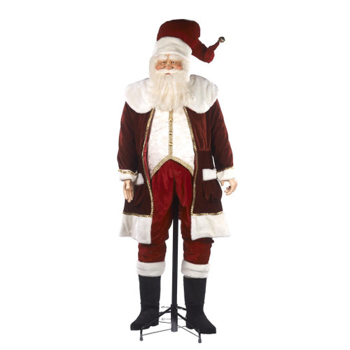 Life Size Santa Doll Display With Stand