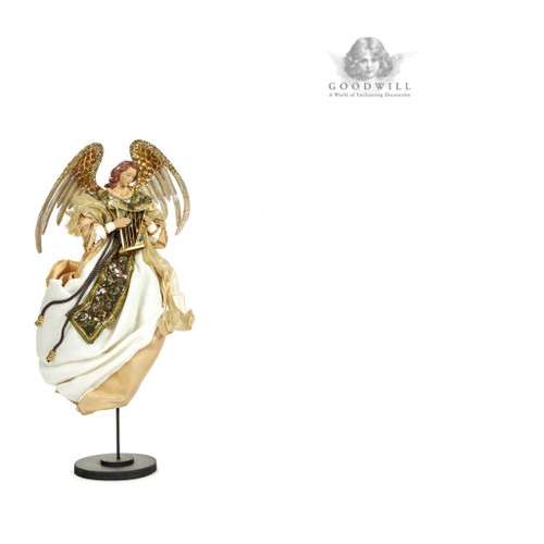 Musical Angel On Base Stand Display
