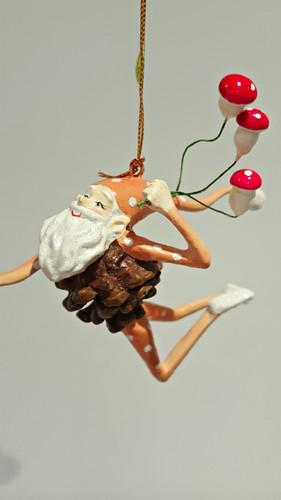 Mushroom Elf Christmas Ornament