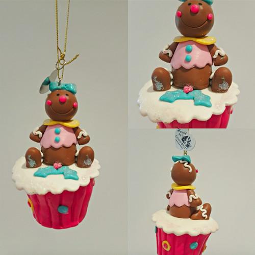 Cupcake Gingerbread Christmas Tree Ornament