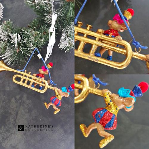 Katherine's Collection Mice Christmas Tree Musical Ornament Display