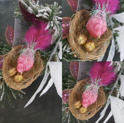 Christmas Clip Bird Display Ornament