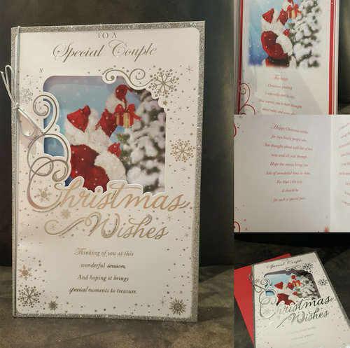 Beautiful Large Christmas Card Special Couple