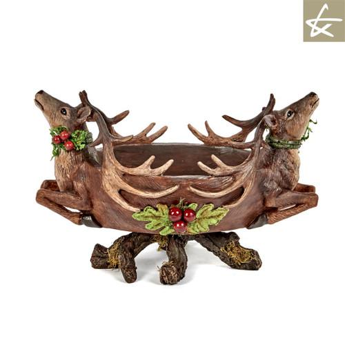 Katherine's Collection Christmas Deer Bowl