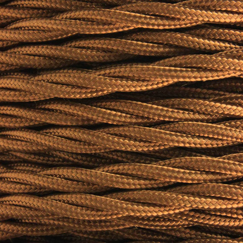 3 Core Braided Antique Brass Individually Twisted 0.75mm [PLU10268]
