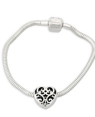 Juliet's Heart Bead Sterling Silver