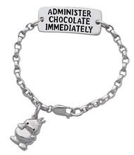 Chocolate Med-Alert- Hippo Bracelet