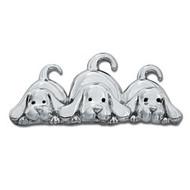 Three Puppies Pin