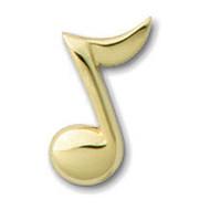 Eighth Note Pendant - La