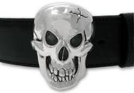 Sterling Silver Skull Buckle