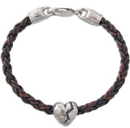 Big Broken Heart Bead Bracelet
