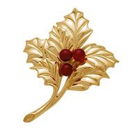 Holly Leaf Brooch