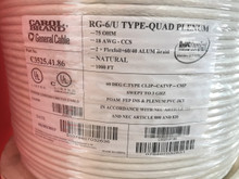 RG6 Quad Shield Plenum CMP Carol General Cable C3525, 1000 Feet