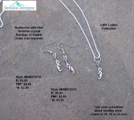 Seahorse bauble & earrings