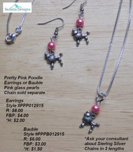 Poodle skirt bauble & earrigs