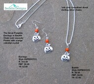 Pumpkin bauble - earrings