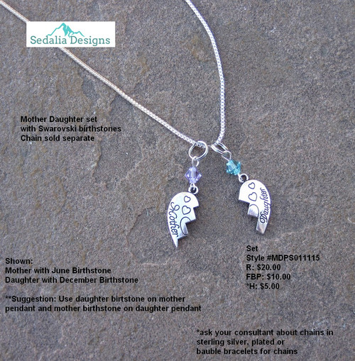 Mother Daughter Bauble Set