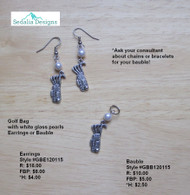 'Golf Anyone?' earrings & bauble